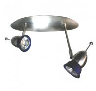 V & M Vetro 2lt Blue Glass Halogen Spotlight