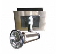 V & M Sepia 1 Light GU10 Spotlight Satin Chrome