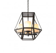 V & M Ipswich 4 lights Black Pendant