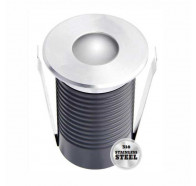 Atom AT9313 2W LED IP67 12Vdc Round Face Inground Uplighter