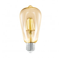 Eglo Pear Decor Amber 4W E27 2200K Led ST64 Globes