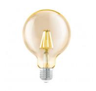 Eglo G95 Decore Amber Round Shape 4W E27 2200K Led globes