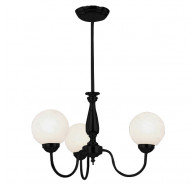 V & M Cosmo 3 Lights 29140 Matt Black Pendant