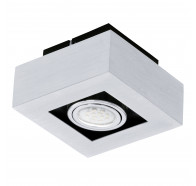 Eglo Loke 1 LED 1 Light Brushed Aluminium Gimble Surface Mounted Ceiling Light