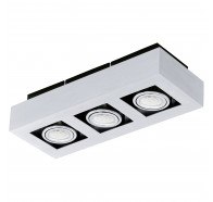 Eglo Loke 1 LED 3 Light Brushed Aluminium Gimble Surface Mounted Ceiling Light