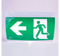 Lumos Viper Led Emergency Light Exit Sign Wall or Ceiling Mounted