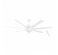 "Eglo Tourbillion 60"" 7 Blade Matt White DC Ceiling Fan with Remote Control"