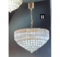 Fiorentino Plaf 1000 Gold Glass Chandelier