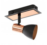 Eglo Barnham Spot Light 1x5w Gu10 3000k Copper & Black