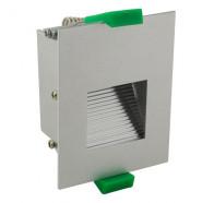 Martec Slip LED Square Brushed Aluminium Step Light