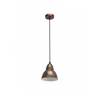 Eglo Truro Copper Industrial Dome Metal Pendant Light