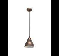 Eglo Truro Copper Industrial Dome Metal Pendant Light