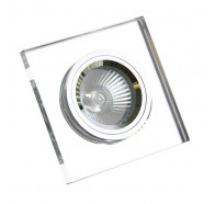 V & M Square Polished Low Voltage Crystal Downlight