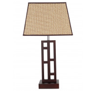 V & M Fuji Timber Table Lamp