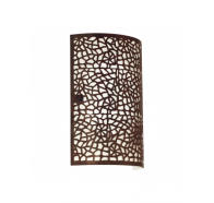 Eglo ALMERA   1 Light Wall Bracket IN  BROWN MESH COVER W INNER CHAMPAGNE GLASS  - 89115