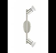 Eglo BUZZ LED 2 Light Spotlight 2X5W GU10 LED SATIN NICKEL FINISH 285X65 4200K NON DIMM GLOBES  - 200693