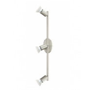 Eglo BUZZ LED 3 Light Spotlight 3X5W GU10 LED SATIN NICKEL FINISH 485X65 4200K NON DIMM GLOBES  - 200694