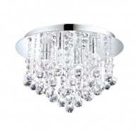 Eglo Almonte Ctc 4x2.5w G9 Led Chrome & Crystal Semi Flush Mount Light