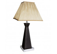V & M Archer Leather Table Lamp