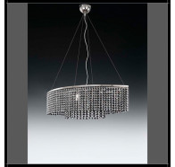 Fiorentino Arco 6 Light Crystal Chandelier