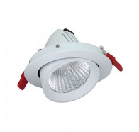 Atom AT9042 Round Adjustable 22W Dimmable LED Downlight White Frame