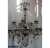 Fiorentino Avenue 12 Light Chrome Crystal Chandelier