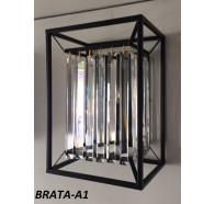 Fiorentino Brata 1 Light Black Crystal Wall Bracket