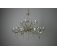 Fiorentino 12 Lights Murano Look Chandelier