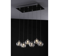 Fiorentino Champagne 6 Light Plate Pendant Light