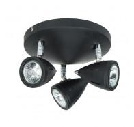 V & M Como 3 Lights Spot Black Plate