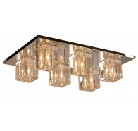 V & M Cubo 6 Light Crystal Flush Pendant Light