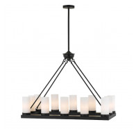 Telbix Cutler 12 Light Rectangular Pendant Light