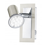 Eglo Rottelo LED 1 Light Chrome & Brushed Nickel Adjustable Spotlights