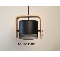 Fiorentino Fatina 1 Light Wood Pendant