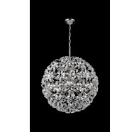 10 Light Crystal Ball Pendant