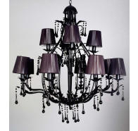 V & M Florence Black Crystal Pendant Lights