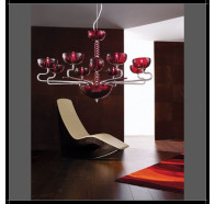 Fiorentino Gemini 8 Light Murano Glass Chandelier