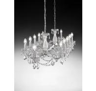 Fiorentino Graz 12 Light Crystal Pendant