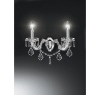 Fiorentino Graz 2 Light Crystal Wall Bracket