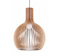 Fiorentino Guarin Large 1 Light Wood Pendant