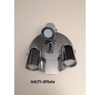 Fiorentino Haiti 3 Light Chrome Round Led Adjustable Wall Bracket