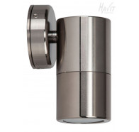 Havit HV1187 GU10 240v Titanium Single Fixed Wall Pillar Light