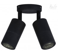 Havit HV1326 Matte Black Double Adjustable Wall Pillar Light