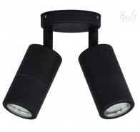 Havit HV1327 GU10 Matte Black Double Adjustable Wall Pillar Light