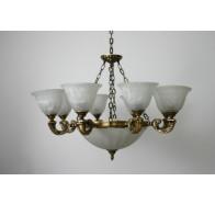 Fiorentino MX959 Antique Brass 7 Light Pendant