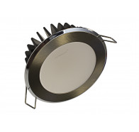 Martec Infinity Downlights with Brushed Nickel Finish Round Fixed Dimmable 3000k Warm White Light