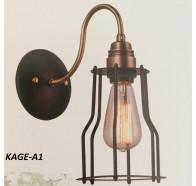 Fiorentino Kage 1 Light Black And Bronze Aluminium Wall Bracket