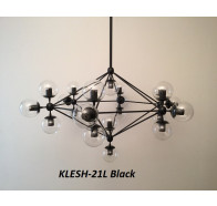 Fiorentino Klesh 21 Light Clear Glass Aluminium Pendant