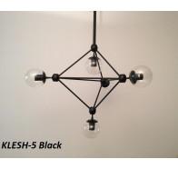 Fiorentino Klesh 5 Light Clear Glass Aluminium Pendant