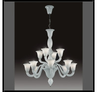 Fiorentino Laguna 12 Light Murano Glass Up Chandelier